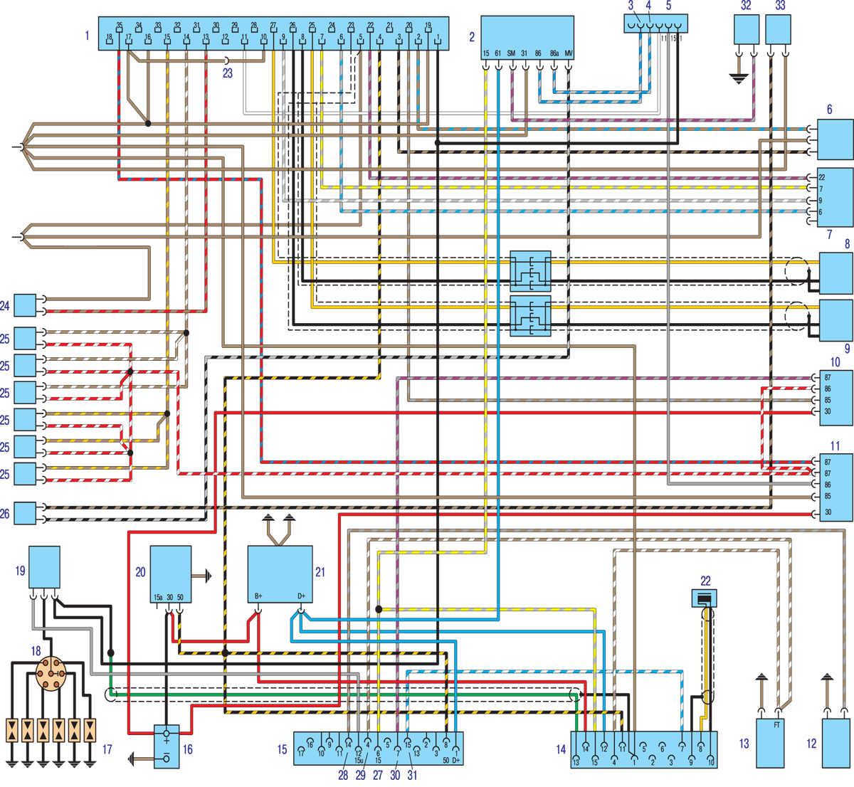 Схема центрального замка на форд мондео 2